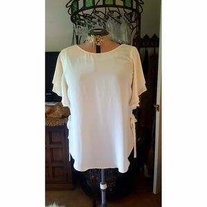 Ivory blouse. Laundry by Shelli Segal